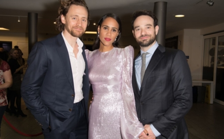 Tom Hiddleston, Zawe Ashton and Charlie Cox celebrate the opening night of Jamie Lloyd's production of Betrayal by Harold Pinter